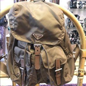 Authentic Prada Vela Nylon Backpack in Rovere